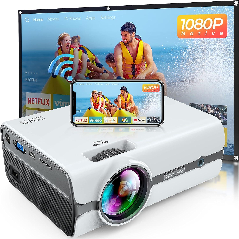 VANKYO Leisure 410 Pro Native 1080P Projector, Full HD Mini WiFi Projector with 100