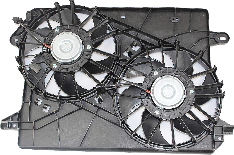 MYSMOT 620-039 Dual Engine Cooling Fan Assembly Compatible with Chrysler 300 2005-2009 / Dodge Challenger 2008 2009 / Dodge Charger 2006-2009 / Dodge Magnum 2005-2008 5137714AA