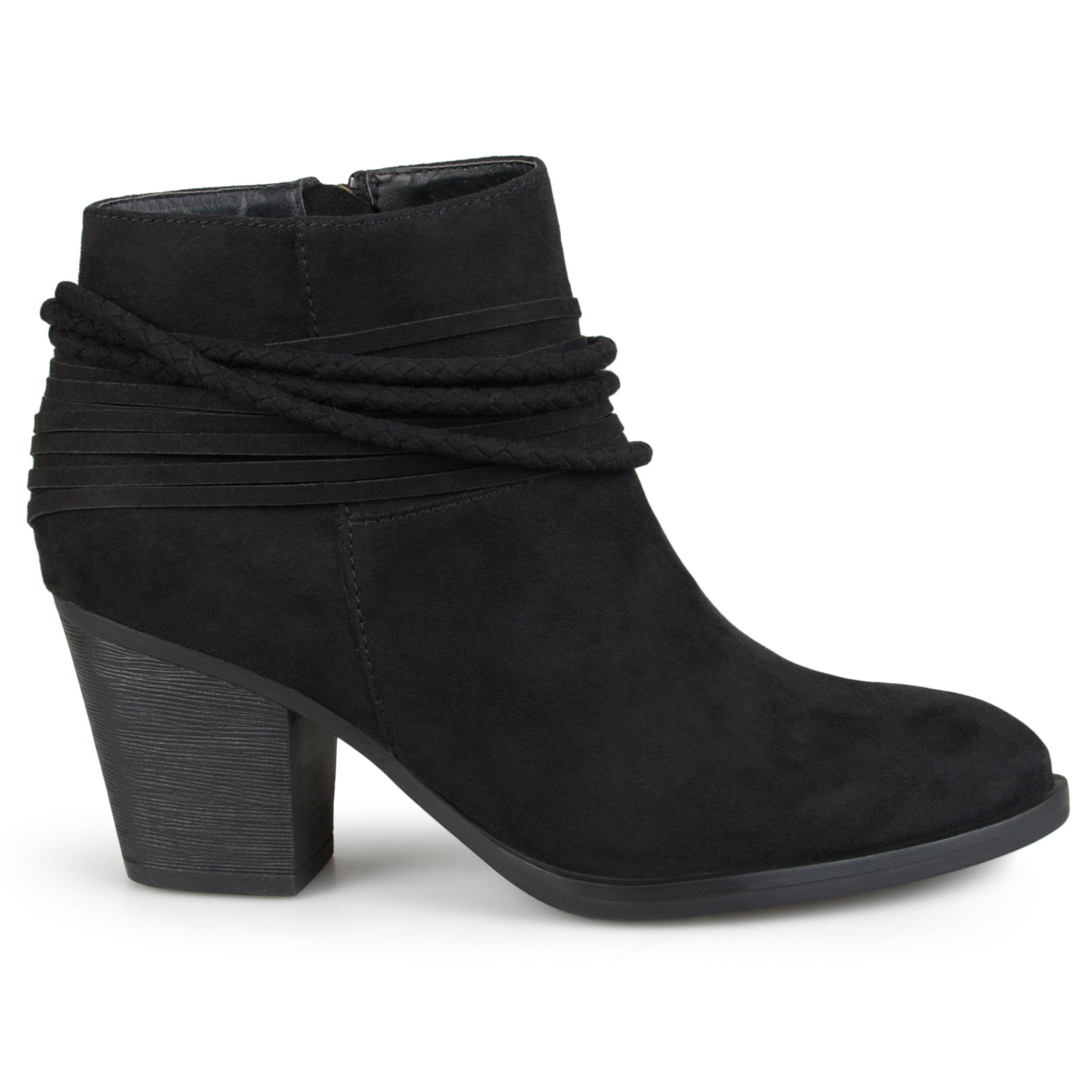 Brinley Co Women's Chase Ankle Boot, Black, 9 Regular US