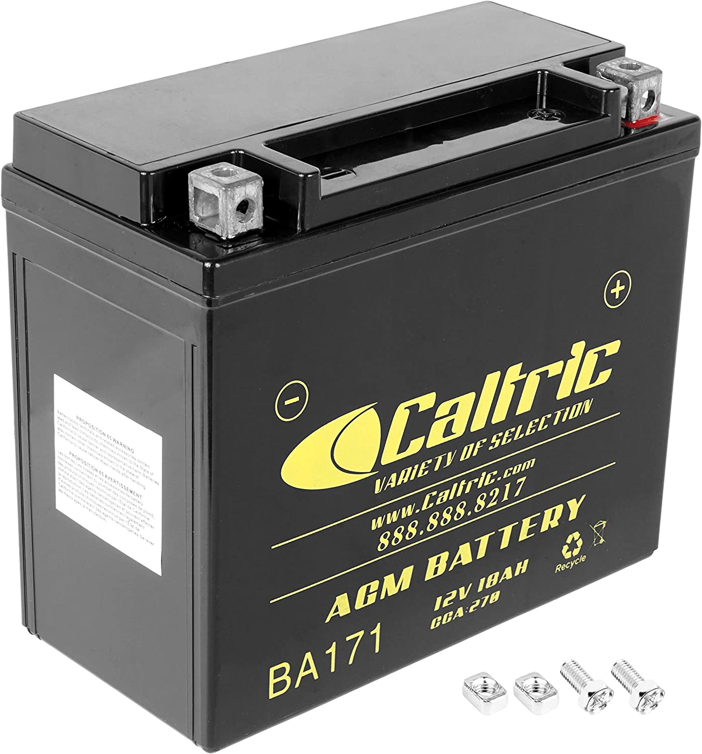 Caltric compatible with Agm Battery Yamaha Grizzly 600 Yfm600F Yfm-600F 4Wd 1998-2001