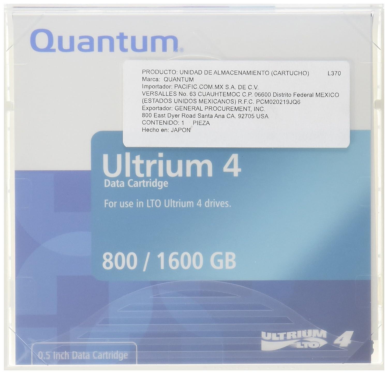 Quantum LTO Ultrium 4 Media Cartridge Quantum Chemical TI000608 Blank Media & Cleaning Cartridges