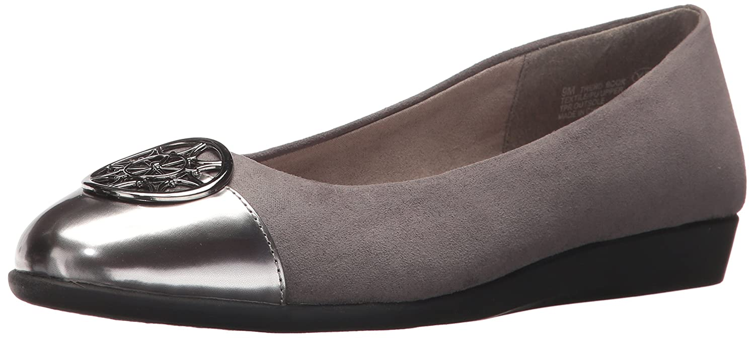 Aerosoles A2 by Women's Trend Book Ballet Flat B071L1QHS2 7.5 W US|Grey Combo