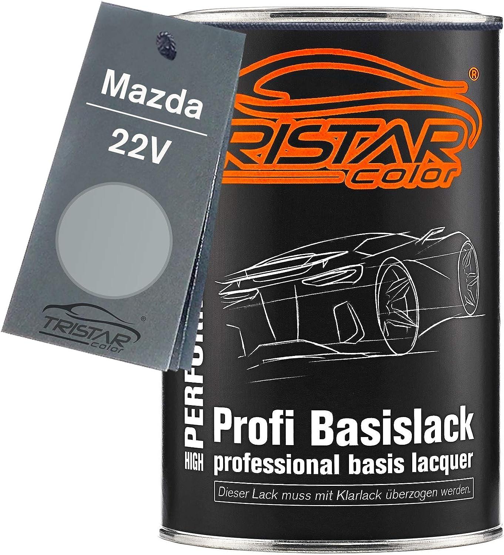 Tristarcolor Autolack Dose Spritzfertig Für Mazda 22v Sunlight Silver Metallic Satinsunlight Silber Metallic Basislack 1 0 Liter 1000ml Auto