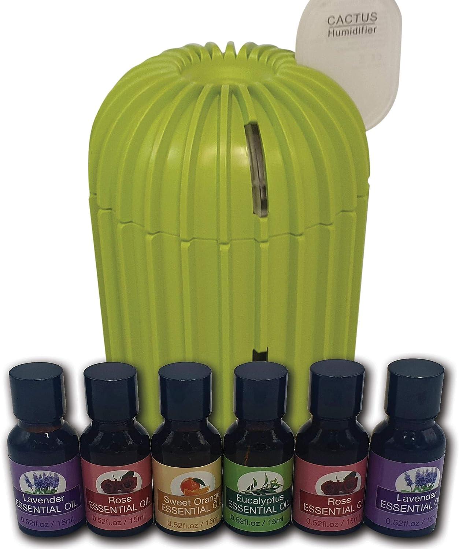 bien-/être bureau Lampe /électrique ISOTRONIC Diffuseur dar/ômes avec 7 couleurs dhumidificateur LED /à ultrasons avec 6 huiles essentielles daromath/érapie pour chambre /à coucher yoga