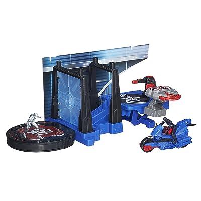 Marvel Avengers HQ Captain America Tower Defense Set: Toys & Games