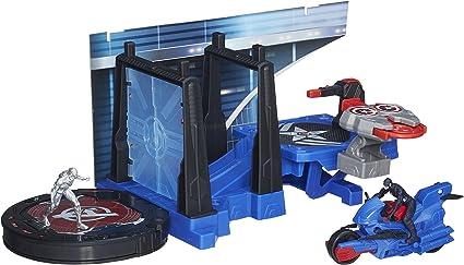 Marvel Avengers HQ Captain America Tower Defense Set Toys Children Toy