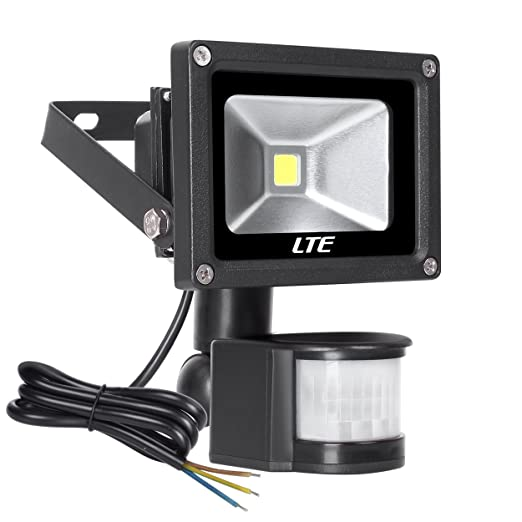 18 opinioni per LTE Faretto Esterno 10W Faro LED con Sensore di Movimento Illuminazione Estern ,