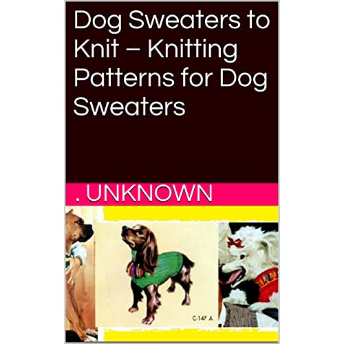 Dog Knitting Patterns Amazon