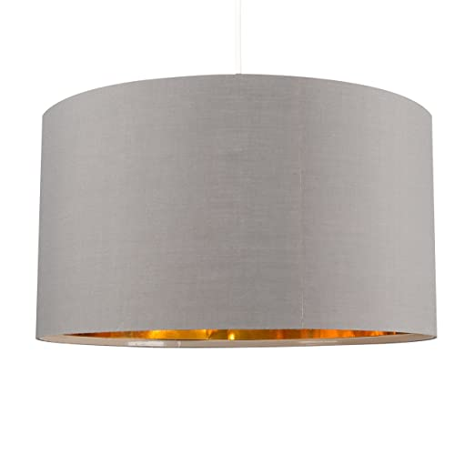 Self assembly extra large modern cylinder ceiling pendant drum light self assembly extra large modern cylinder ceiling pendant drum light shade in a grey and metallic mozeypictures Images