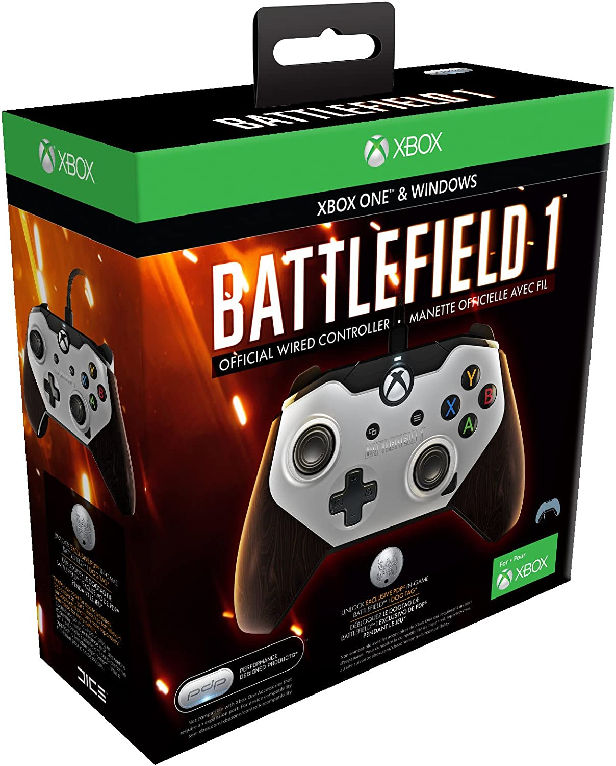 PDP - Mando Con Cable Oficial Battlefield 1 Licenciado (Xbox One, PC): Amazon.es: Videojuegos