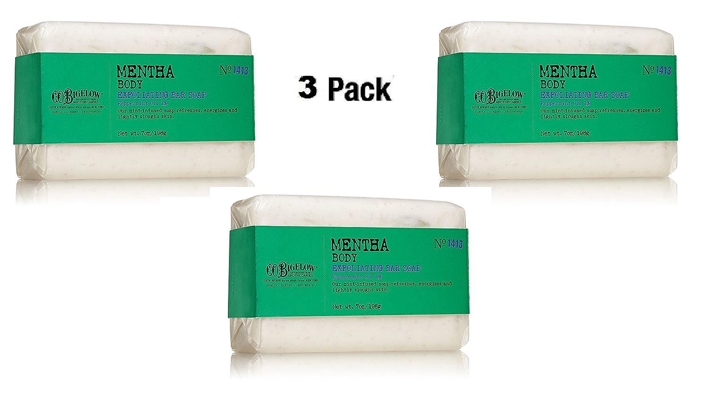 Lot of 3 C.O. Bigelow Mentha Body Exfoliating Bar Soap 7.0 oz