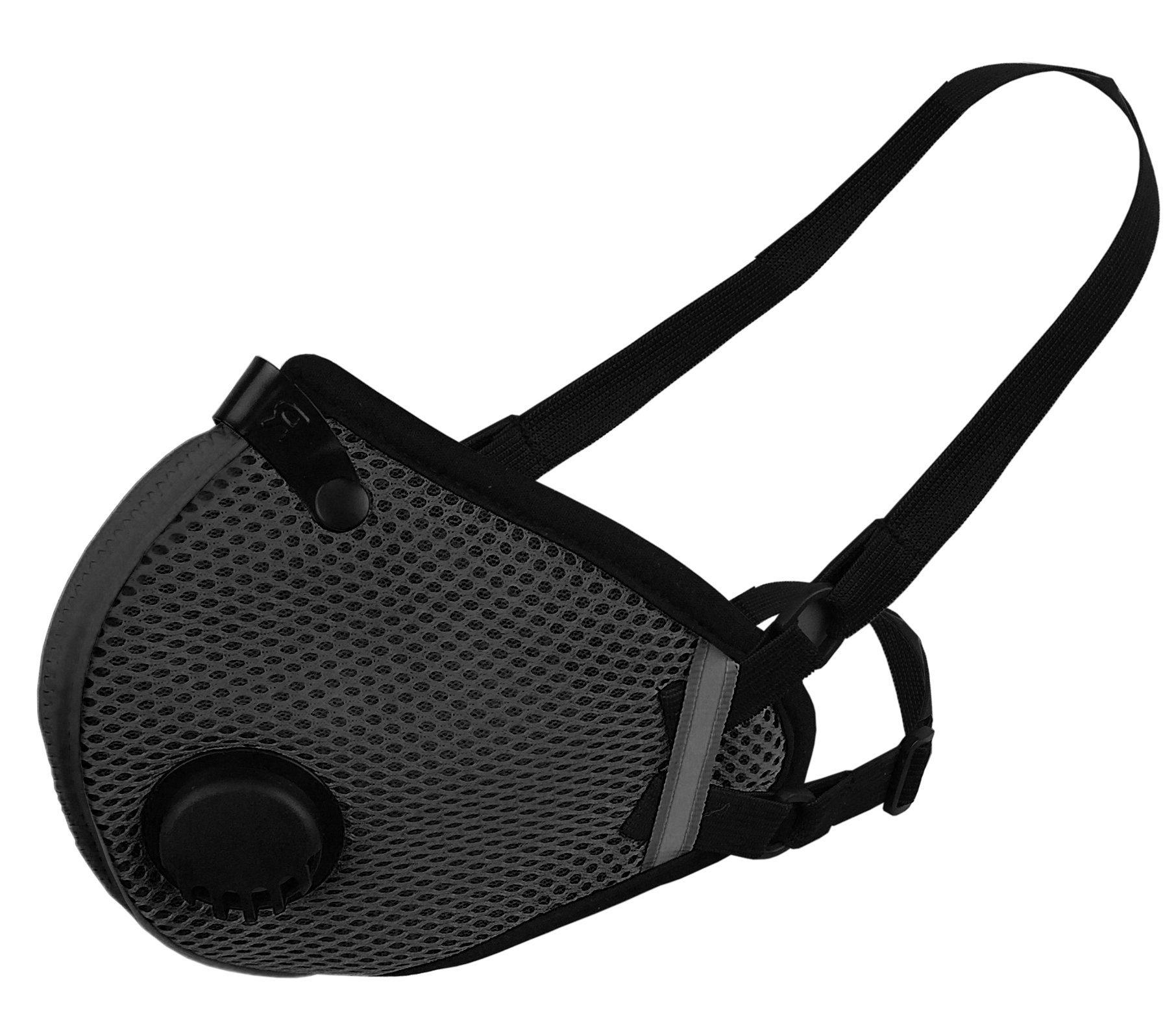 RZ M2.5 Dual Strap Mesh Dust/Air Filtration Mask Bonus Pack Mask Washable New Adjustable Straps Allergy/Asthma/Construction/Woodworking/Pollution/Adult (Large (125lbs - 215lbs), Black) by RZ Mask (Image #2)