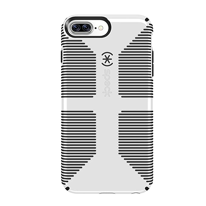 timeless design 24fca dfb83 Speck Products CandyShell Grip iPhone 8 Plus Case, Also fits iPhone 7 Plus,  6S/6 Plus - White/Black