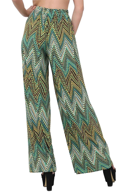 Plus Size Ladies Womens Wide Leg Chain Baroque Scarf Print Palazzo Trouser Pants