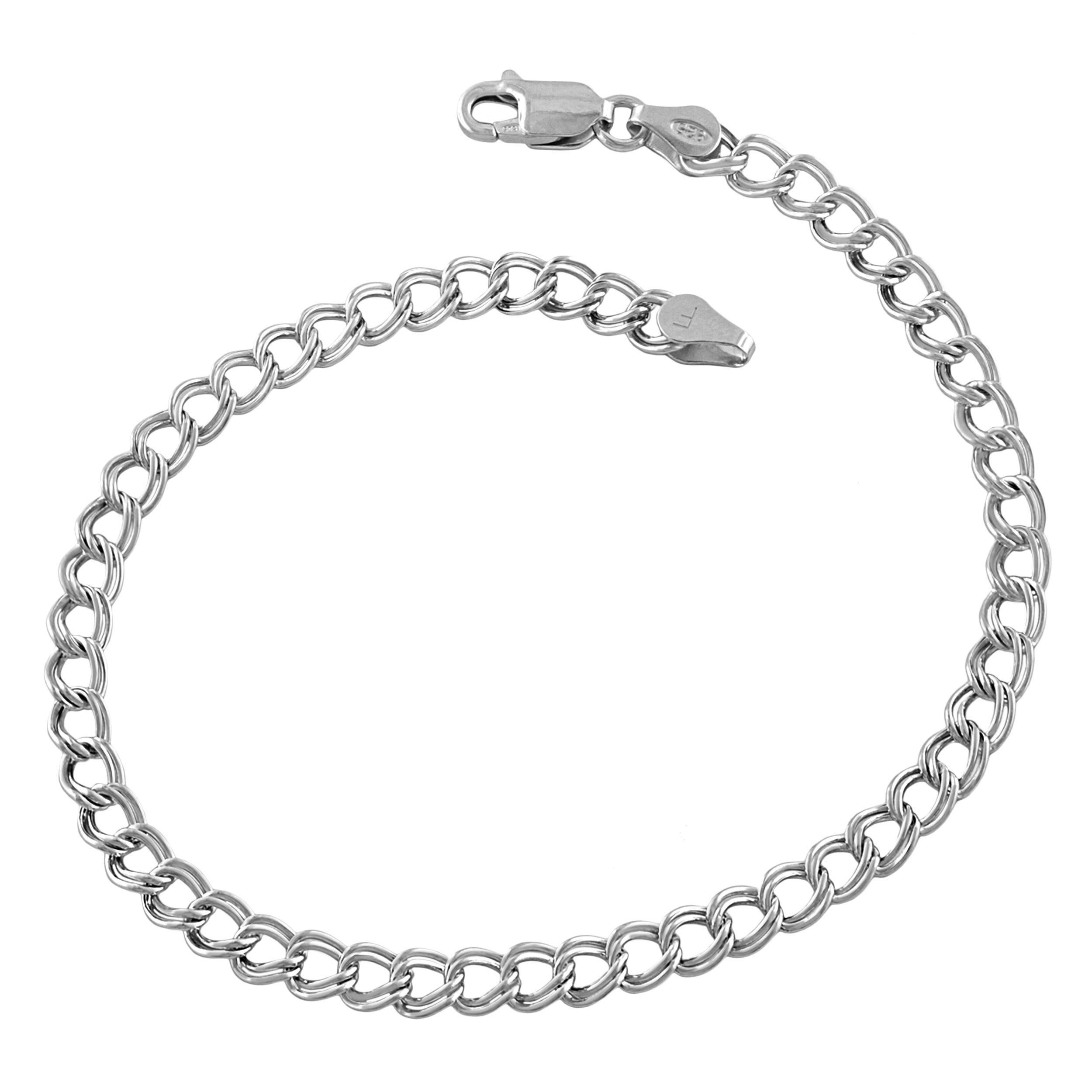 Sterling Silver Classic Lite Charm Bracelet (4.3mm, 7.5 inch)