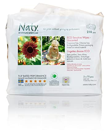 Nature Babycare Eco-Sensitive Baby Wipes - 210 ct - Unscented