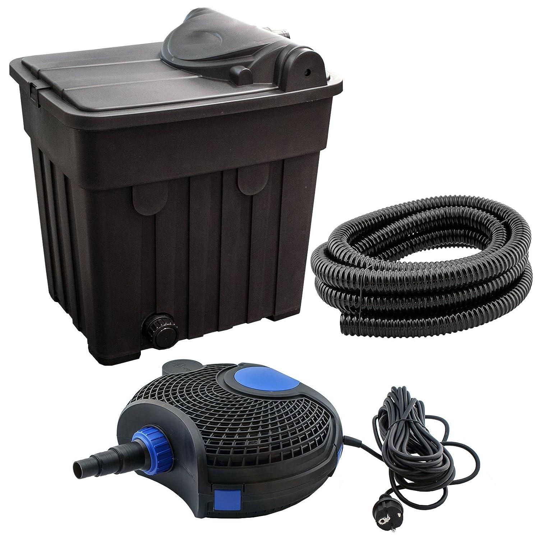 jad yt 03 teichfilter set f r teiche bis 25000l inkl uv filter pumpe schlauch und zubeh r. Black Bedroom Furniture Sets. Home Design Ideas