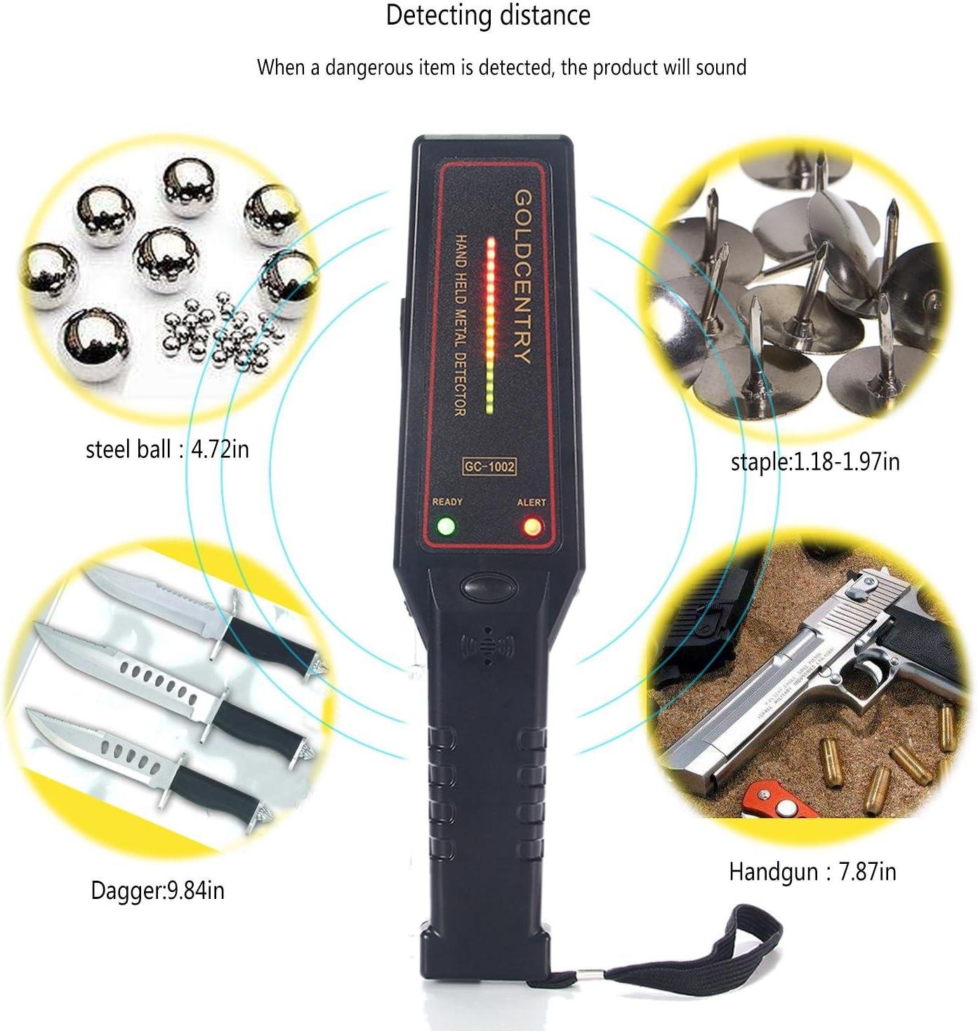 teepao Control de seguridad detector de metales de mano, portátil ...