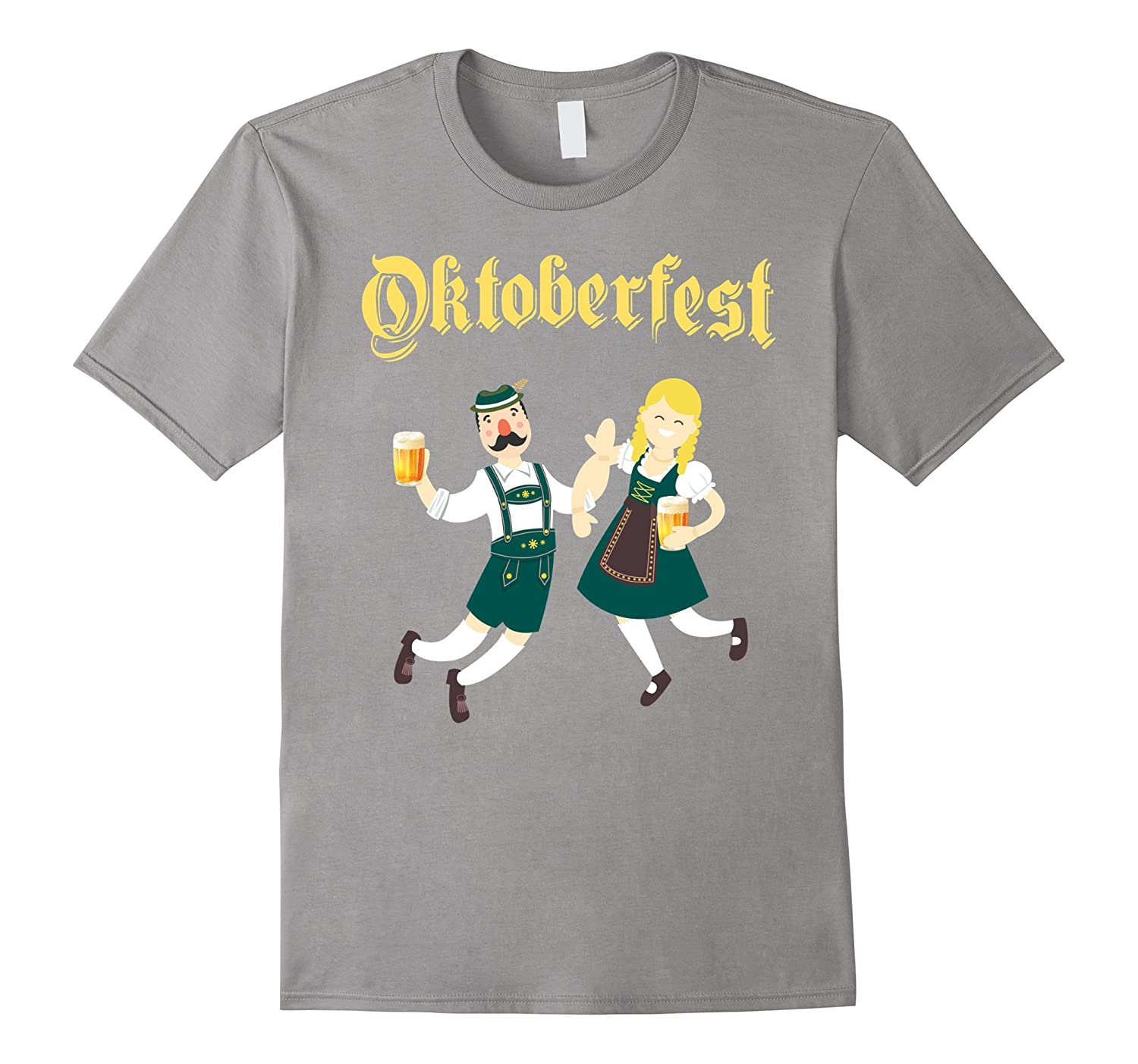 Funny Vintage Retro Oktoberfest T-Shirt for Woman and Men-CL