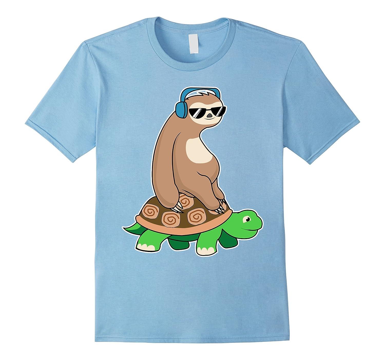 Mens Sloth Riding Turtle Medium-Tovacu