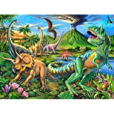 Puzzles for Kids Ages 4-8 Year Old,100 Piece Dinosaur Jigsaw Puzzle for Toddler Children Learning Educational Puzzles…