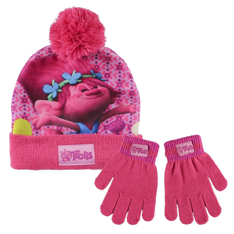 Girls - Trolls 2pc Hat and Glove Set