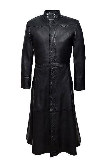 c6d9fea5457 Smart Range Men's Neo Full Length Matrix Style Real Nappa Leather Jacket  Coat