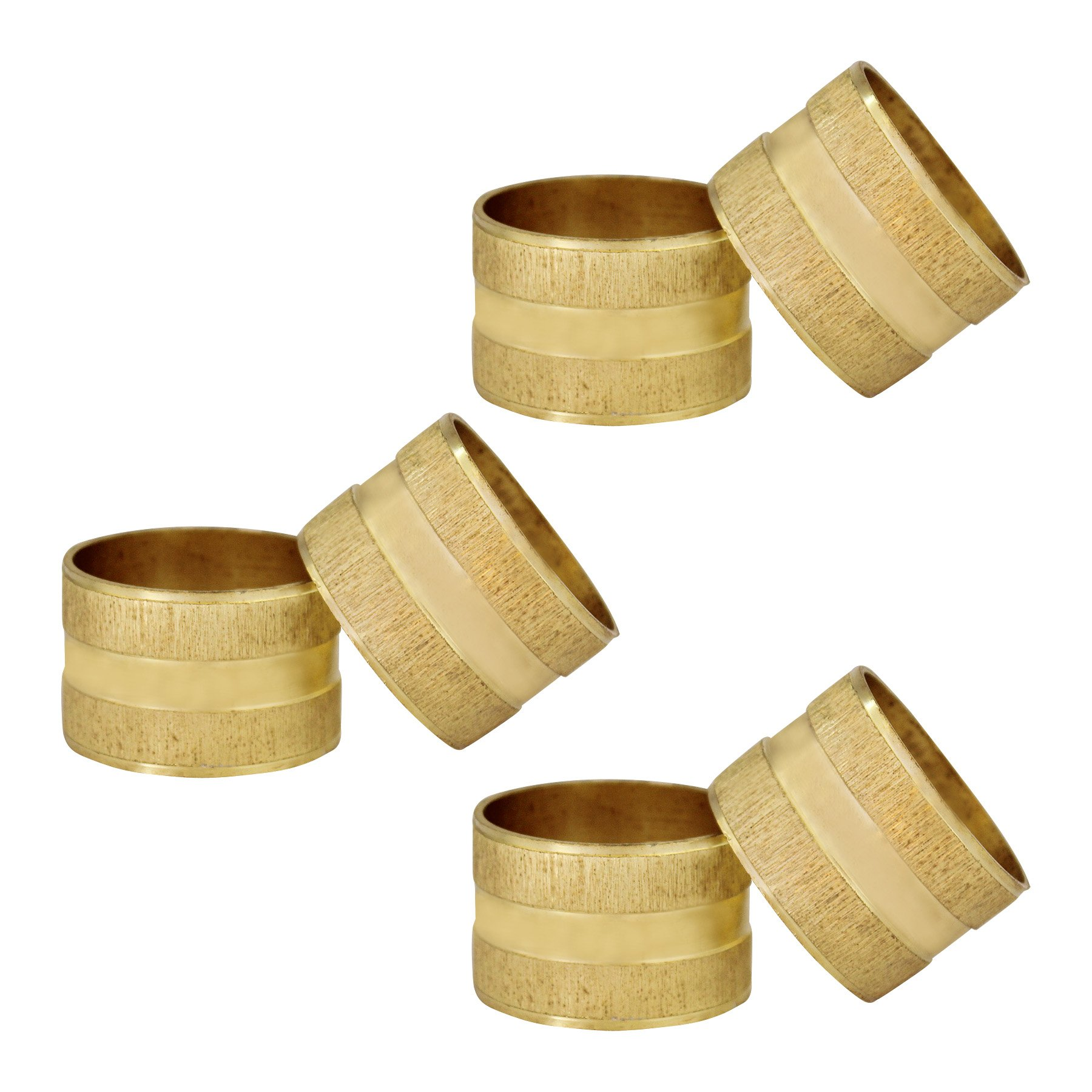 ITOS365 Handmade Gold Round Napkin Rings Holder for Dinning Table Parties Everyday, Set of 6
