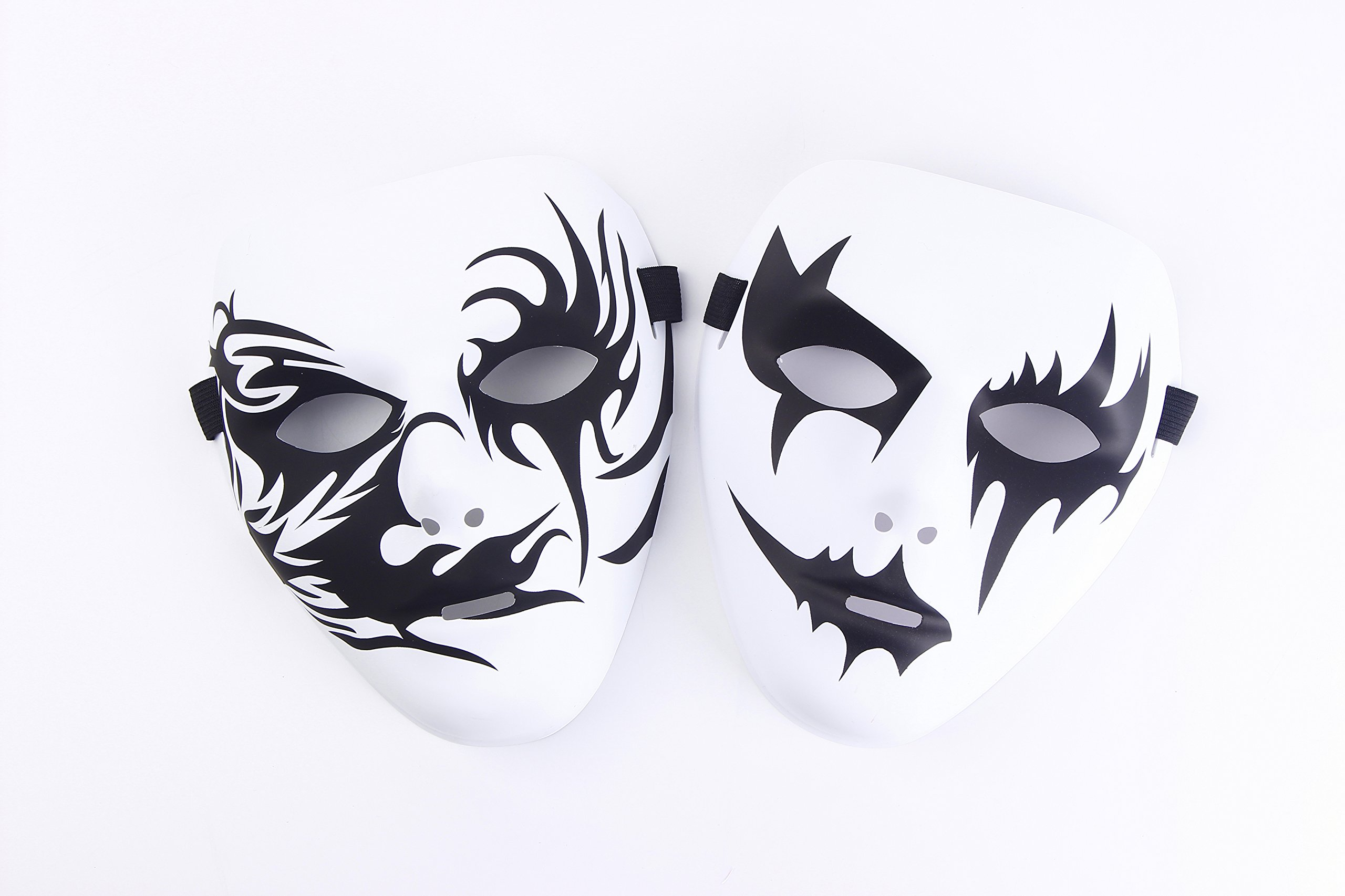 Halloween Masquerade Cosplay Masks Pack Of Two (Style 3)