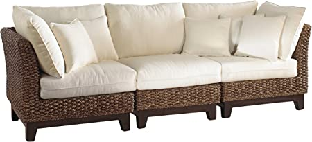 Amazon Com Panama Jack Sunrooms 3 Pcpjs 1001 S Sanibel Sofa With Cushions Light Beige Garden Outdoor