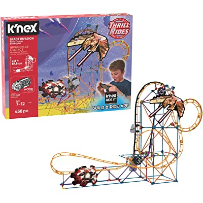 K\'NEX Thrill Rides – Space Invasion Roller Coaster Building Set with Ride It! App – 438Piece – Ages 7+ Building Set.: Toys & Games [5Bkhe1007224]