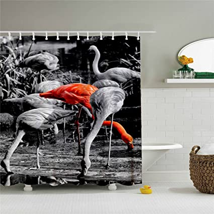 Image Unavailable Not Available For Color Target Flamingo Shower Curtain