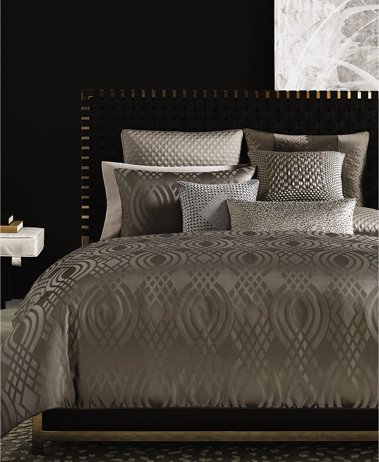 Hotel Collection Dimensions Full / Queen Modern Duvet Cover Brown