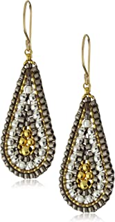product image for Miguel Ases Sterling Silver and 14k Gold Filled Cluster Drop Earrings