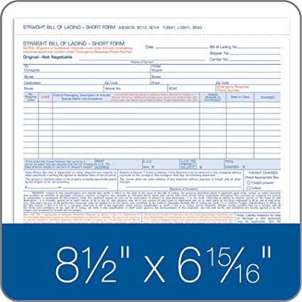 Amazoncom Adams Bill Of Lading Short Form X Inches - Blank plumbing invoice free online store credit cards guaranteed approval