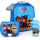 Nickelodeon® Paw Patrol Official Lunchbag Lunch Bag Case with Sandwich Box and Drinking Bottle Set for Kids Children (Blue)