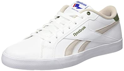 Reebok Royal Complete Low, Chaussures de Tennis Homme, Blanco Beige Verde (
