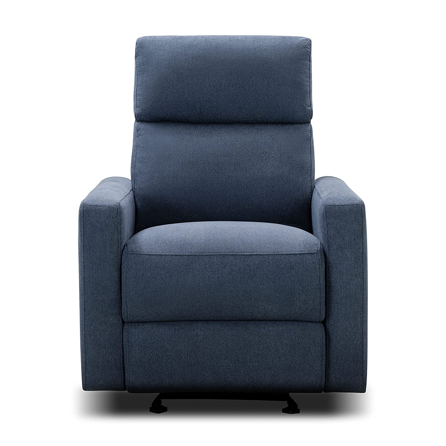 The Glider by Nurture& | Premium Power Recliner Nursery Glider Chair with Adjustable Head Support | Designed with a Thoughtful Combination of Function and Comfort | Built-in USB Charger (Navy)