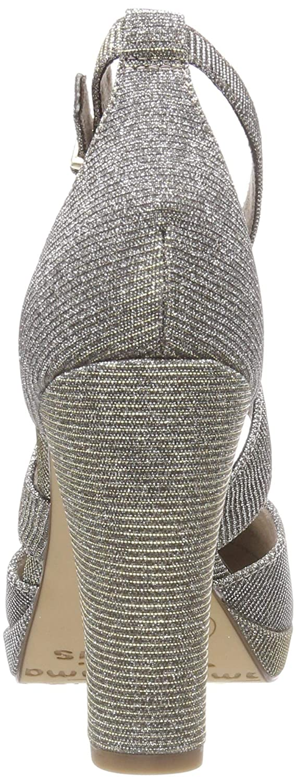 Tamaris Damen Silber 24416-21 Riemchenpumps Silber Damen (Platinum Glam 970) d69280