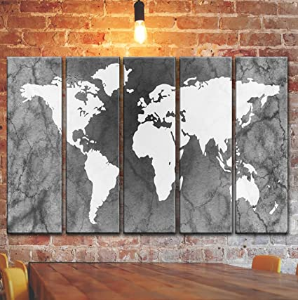 Vintage style world map wall art decor picture painting on canvas vintage style world map wall art decor picture painting on canvas framed print poster decoration gumiabroncs Image collections