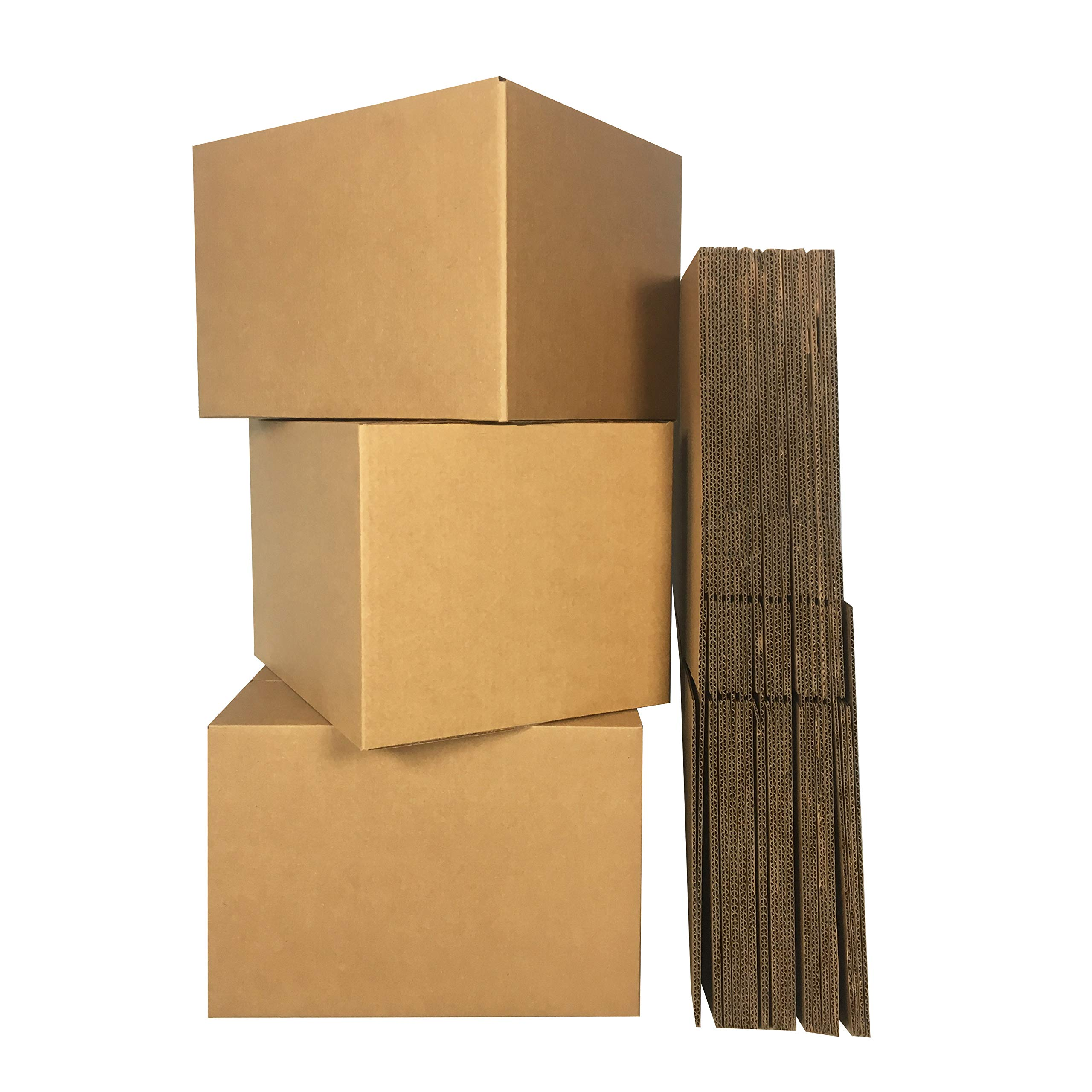 uBoxes Medium Moving Boxes, 18 x 14 x 12 inch, 10 Pack, Cardboard Box (BOXMINIMED10) by Uboxes (Image #1)