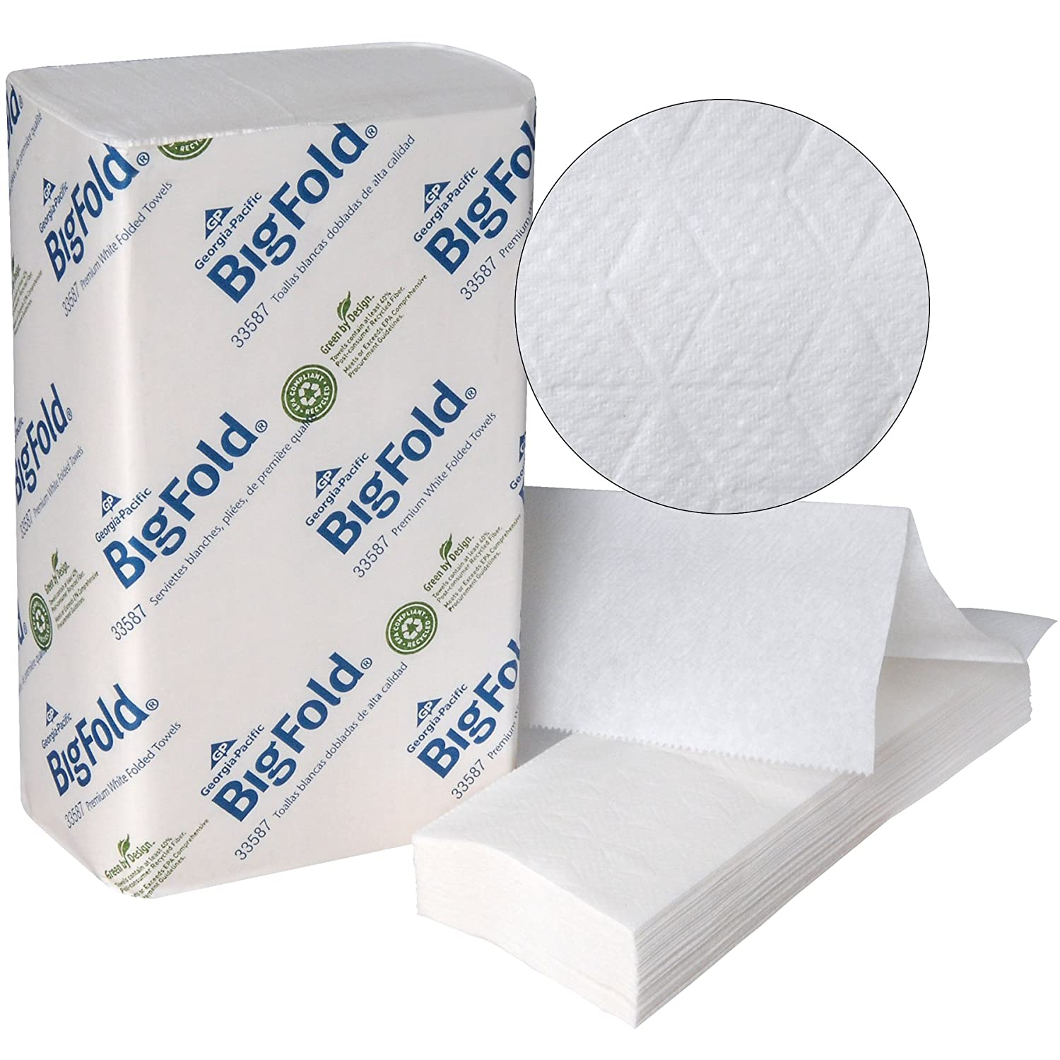Amazon.com: Bigfold Pacific Blue Ultra Premium Recycled Paper Towels (previously branded Big Fold Z) by GP PRO (Georgia-Pacific), White, 33587, ...