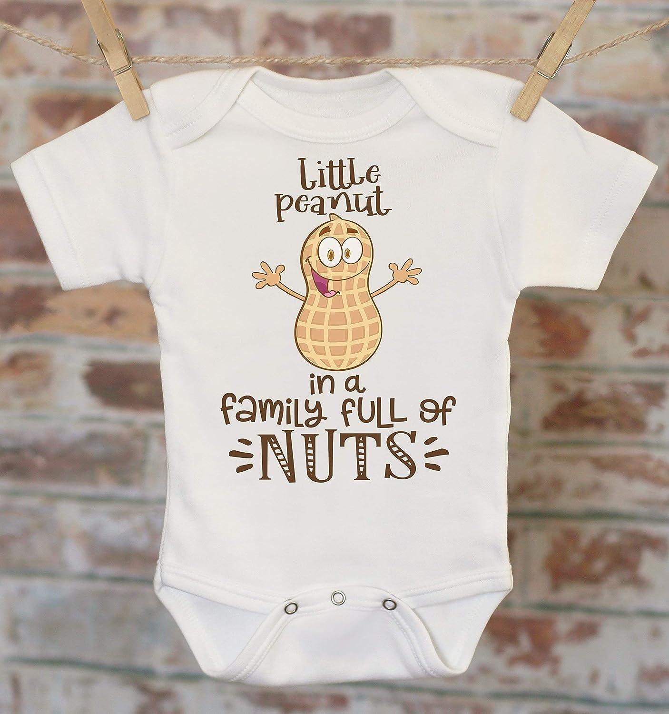 Little peanut cute baby bodysuit new baby boy baby girl pink blue white