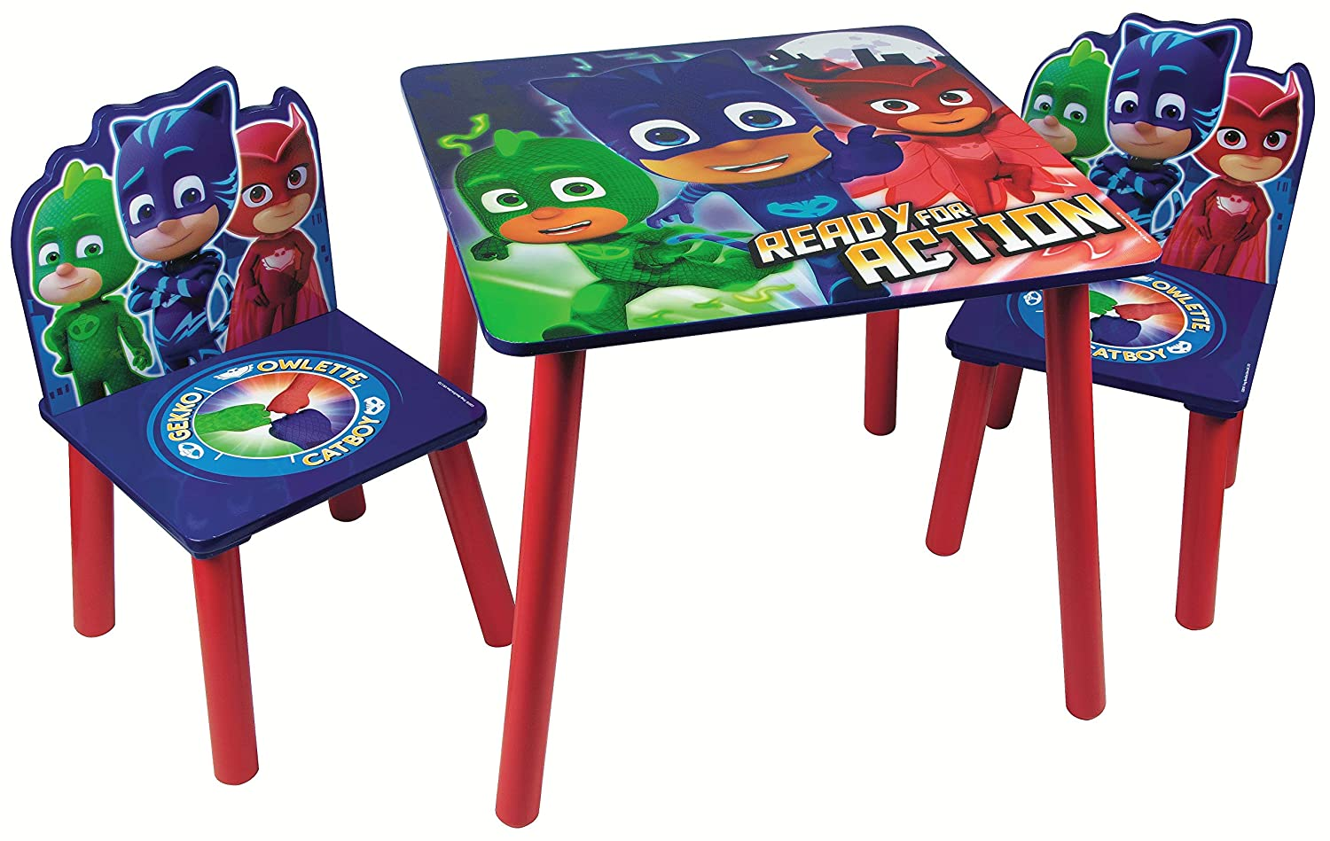 Children Wooden Table & Chairs Sets - Indoor Childrens Toddlers Playroom Furniture … (Disney Cars) Global