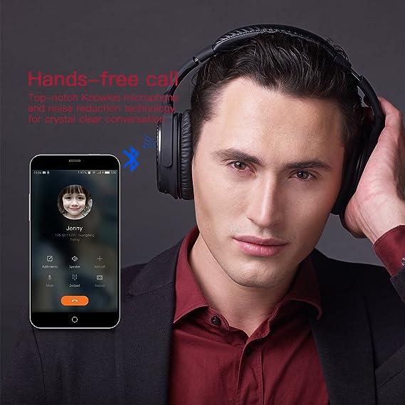 Ausdom® M05 Auriculares Bluetooth 4.0+EDR de Alta Fidelidad con Batería Recargable de 500 mAh y Micrófono Incorporado para Smartphone y Tablets: Amazon.es: ...