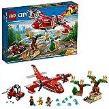 LEGO City Fire - Avión de Bomberos, Juguete Creativo de Construcción con Avión y Vehículo para Niños a Partir de 6 Años…