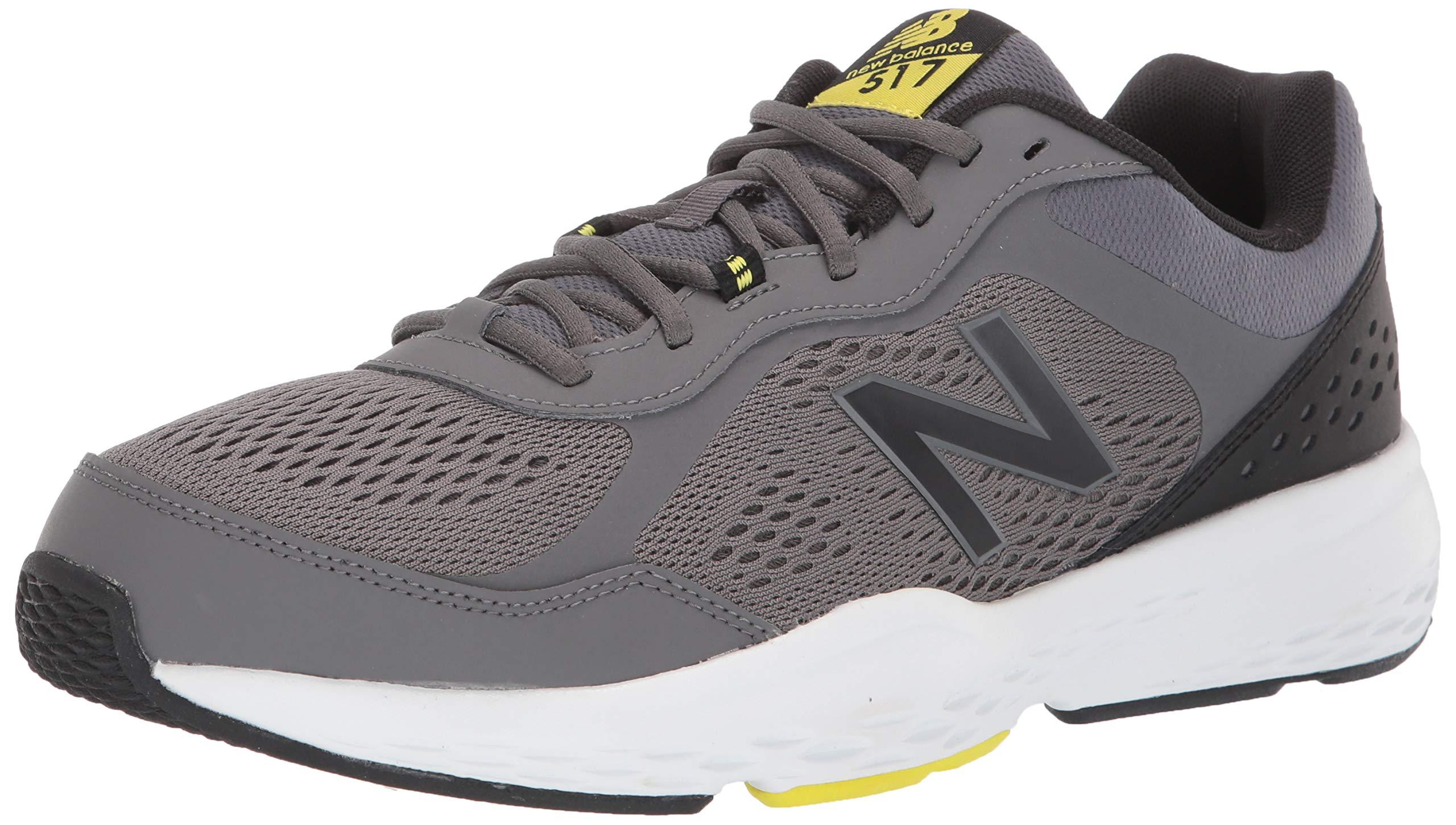 New Balance Men's 517v2 Cross Trainer, Castlerock/Sulphur Yellow, 10 W US by New Balance