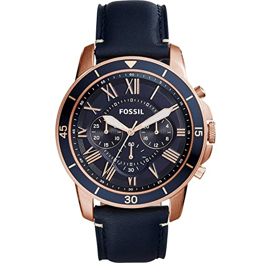 79281e76f Image Unavailable. Image not available for. Colour: Fossil FS5237 Grant  Sport Blue Dial Chronograph Men's Watch