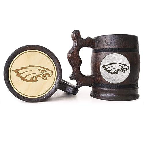 on sale 32b41 bcaa1 Amazon.com: Philadelphia Eagles Beer Mug, American Football ...