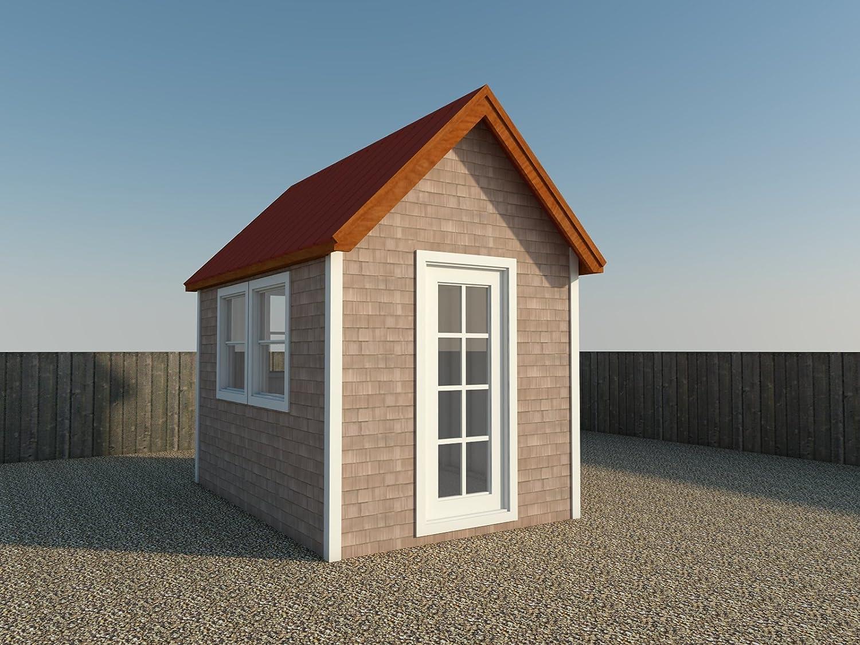 8 X 12 tiny house Plans DIY